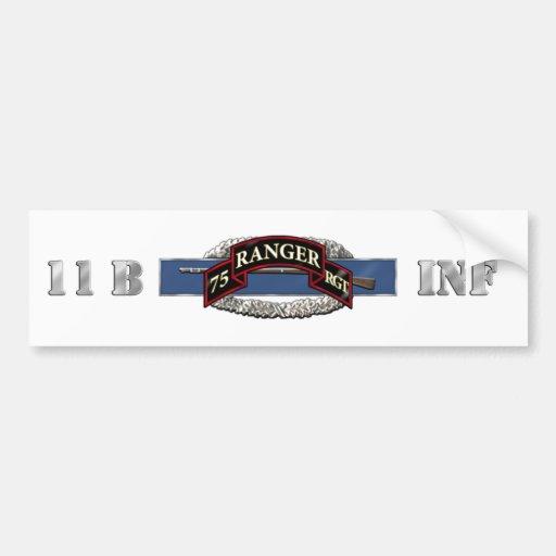 11B 75th Ranger Regiment Bumper Sticker