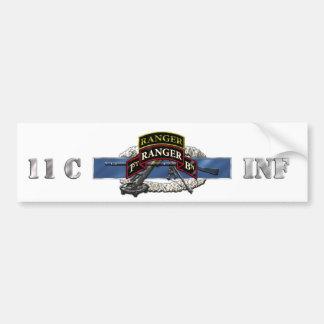 11C 75th Ranger 1st Battalion w/ Tab Car Bumper Sticker