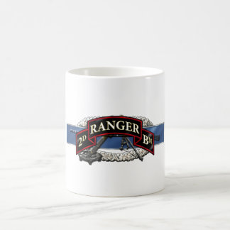 11C 75th Ranger 2nd Battalion Basic White Mug