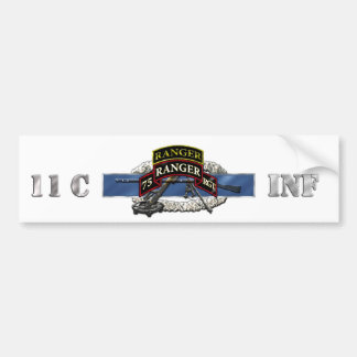 11C 75th Ranger w/ Tab Bumper Sticker