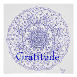 11Mandala 6, Gratitude Posters