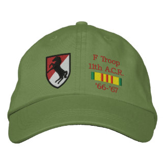 11th A.C.R. Blackhorse Patch & VSR Hat Embroidered Hats