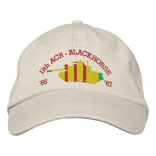 11th ACR Blackhorse M48A3 Patton Embroidered Hat
