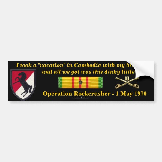 11th ACR Cambodian Vacation Bumper Sticker