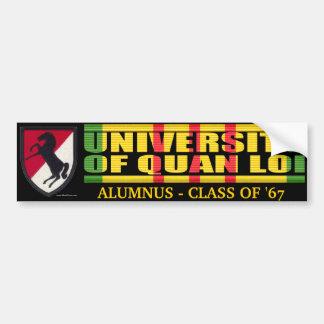 11th ACR - U of Quan Loi Alumnus Sticker Bumper Sticker