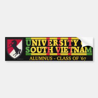 11th ACR - U of South Vietnam Alumnus Sticker Bumper Sticker