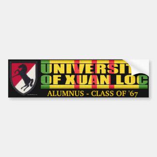 11th ACR - U of Xuan Loc Alumnus Sticker Bumper Sticker