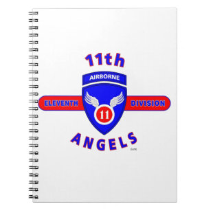 "11TH AIRBORNE DIVISION ""ANGELS"" NOTEBOOK"