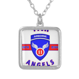 "11TH AIRBORNE DIVISION ""ANGELS"" SILVER PLATED NECKLACE"