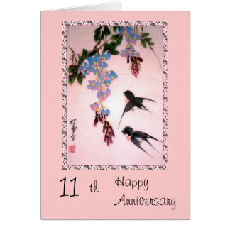 11th Anniversary card