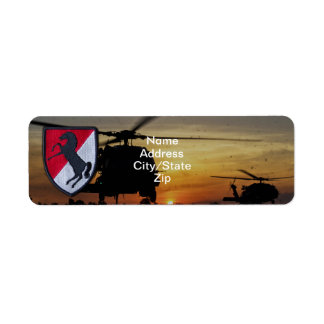 11th armored cavalry regiment acr vietnam nam war return address label
