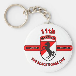 "11TH ARMORED CAVALRY REGIMENT ""BLACK HORSE CAV"" KEY RING"