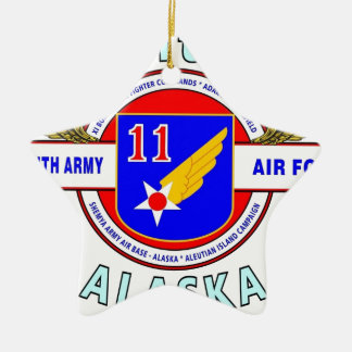"11TH ARMY AIR FORCE ""ARMY AIR CORPS""  WW II CERAMIC STAR DECORATION"