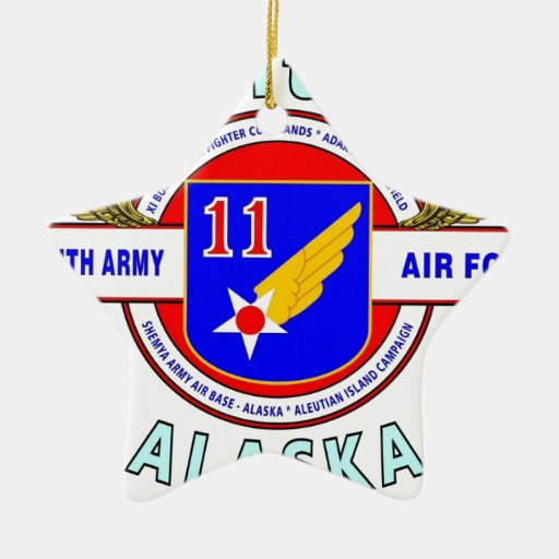 """11TH ARMY AIR FORCE """"ARMY AIR CORPS""""  WW II CHRISTMAS ORNAMENT"""