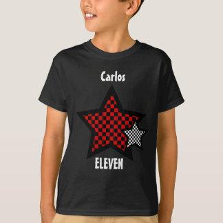 11th Birthday Boy CHECKED Star Custom Name V25 T-Shirt