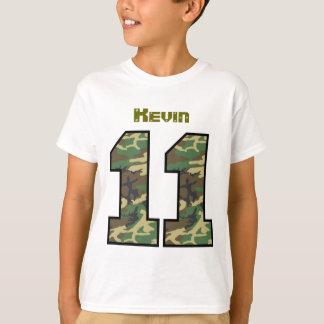11th Birthday Camo One Year Custom Name V012A T-Shirt