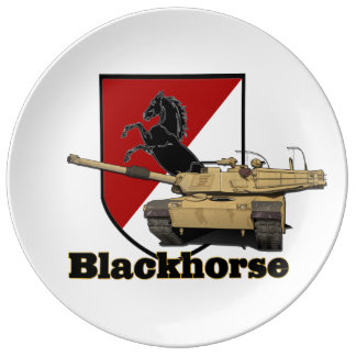 11th Blackhorse Patch & Tank Plate Porcelain Plates
