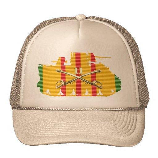 11th Cavalry Sabers ACAV Vietnam Service Ribbon Ha Trucker Hats