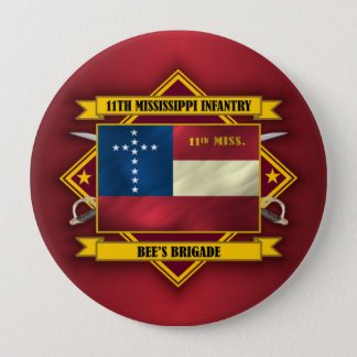 11th Mississippi Infantry (v5) 10 Cm Round Badge