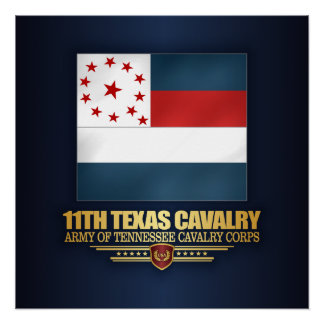 11th Texas Cavalry Poster