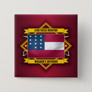 11th  Texas Infantry (v5) 15 Cm Square Badge