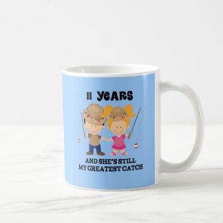 11th Wedding Anniversary Gift For Him Basic White Mug