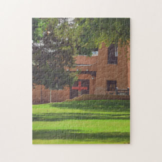 11X14 Puzzle, Church With Red Cross on the Door Puzzles