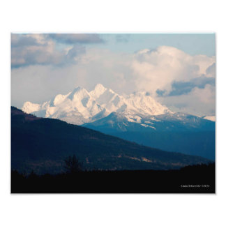 11X14 Three Fingers Mountains from Lynden WA Photo