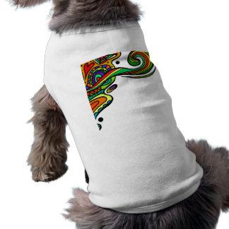 1203 COLORFUL DOODLE SWIRLS HEARTS CARTOON BACKGRO SLEEVELESS DOG SHIRT