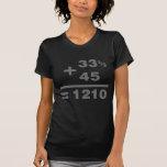 1210 Turntable Maths - DJ Djing Disc Jockey Deck Shirts