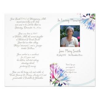 #121202 Memorial Funeral Order of Service Program Flyer
