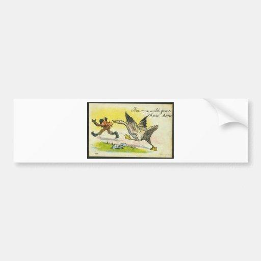 12241-WILD  GOOSE  CHASE BUMPER STICKER