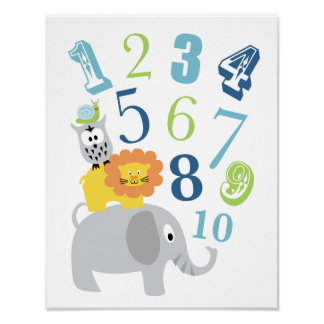 123 Number Wall Art