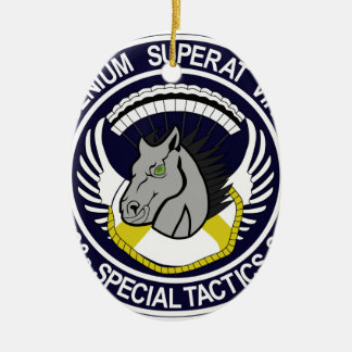 123 Special Tactics Squadron Ceramic Oval Decoration