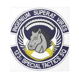 123 Special Tactics Squadron Memo Notepads