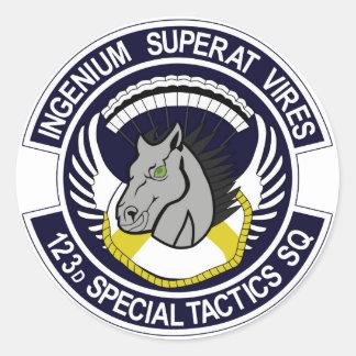 123 Special Tactics Squadron Round Sticker