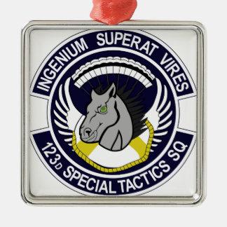 123 Special Tactics Squadron Silver-Colored Square Decoration