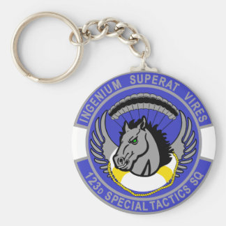 123d Special Tactics Squadron Basic Round Button Key Ring