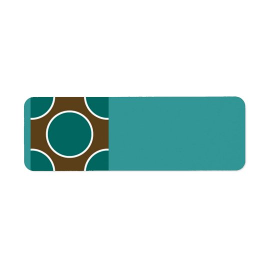 124 RETRO COLORS BROWN TEAL WHITE POLKADOTS PATTER