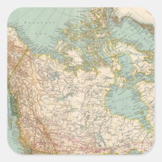 12526 Canada, Alaska, Greenland Square Sticker