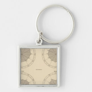 125 Deaths accidents, injuries Silver-Colored Square Key Ring