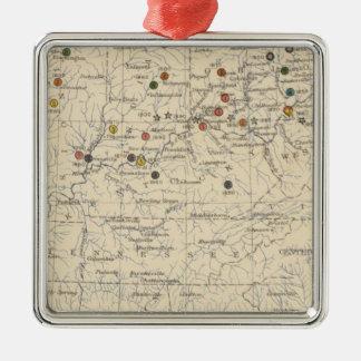 126 Centers of population, farms Christmas Ornament