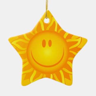 12890 SMILING SUNSHINE HAPPY CARTOON VECTOR GRAPH CHRISTMAS ORNAMENT