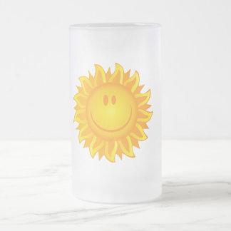 12890 SMILING SUNSHINE HAPPY CARTOON VECTOR GRAPH COFFEE MUGS
