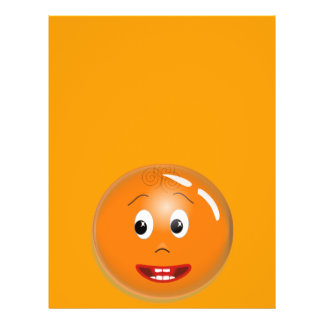 1299450451_Vector ORANGE SMILING FACE CARTOON ICON Flyer