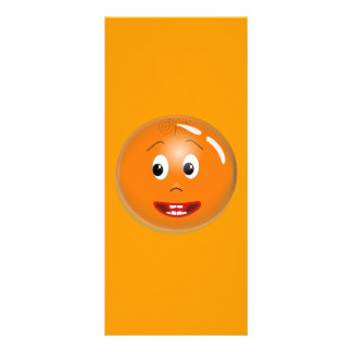 1299450451_Vector ORANGE SMILING FACE CARTOON ICON Personalized Rack Card