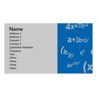 129 BLUE MATHMATICAL EQUATIONS MATH ALGEBRA EDUCAT PACK OF STANDARD BUSINESS CARDS