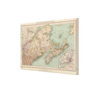 129 Maine, Nova Scotia, New Brunswick, Quebec Canvas Print