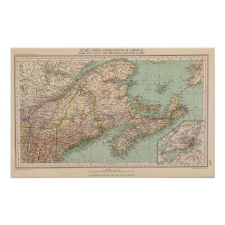 129 Maine, Nova Scotia, New Brunswick, Quebec Poster