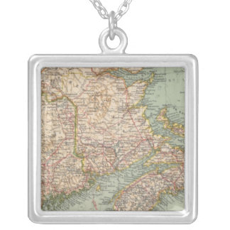 129 Maine, Nova Scotia, New Brunswick, Quebec Silver Plated Necklace